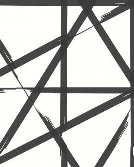 Papier peint Lutèce Eclipse Voltage Noir fond blanc FD23800