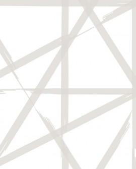 Papier peint Lutèce Eclipse Voltage Grège fond blanc FD23802