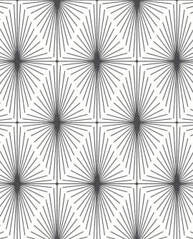 Papier peint Lutèce Eclipse Starlight Noir fond blanc FD23824