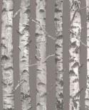 Papier peint Esta Home Greenhouse Troncs de boulot Taupe et gris clair 138892