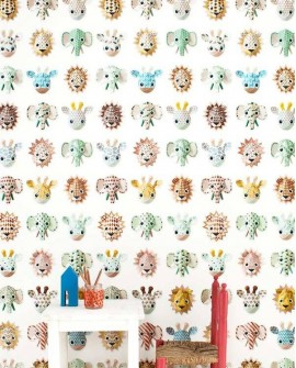 Papier peint Studio Ditte Wild animals Sweet
