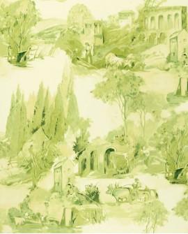 Papier peint Clarke & Clarke Colony Anastacia Citron W0080/02