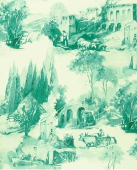 Papier peint Clarke & Clarke Colony Anastacia Jade W0080/05