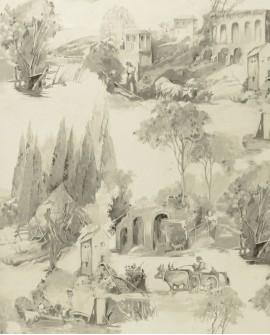 Papier peint Clarke & Clarke Colony Anastacia Gris W0080/04