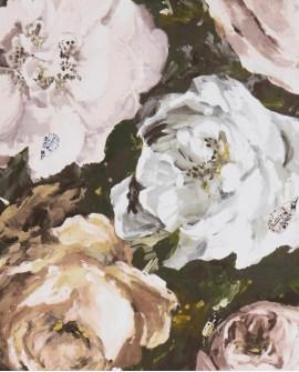 Papier peint Clarke & Clarke Floretta Blush Charcoal W0090/02