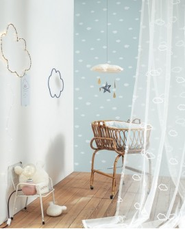 Papier peint Casadeco My Little World Nuages Gris MLW29756430