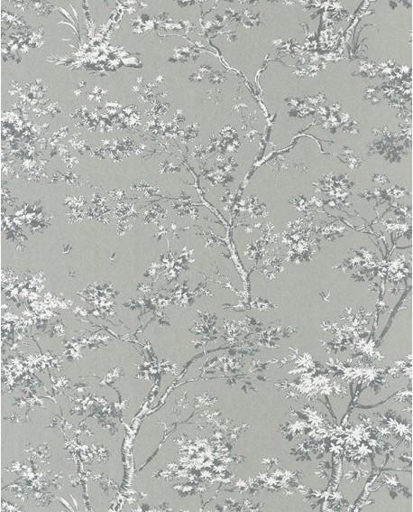 papier peint intiss toile de jouy gris. Black Bedroom Furniture Sets. Home Design Ideas