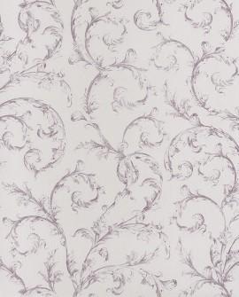 Papier peint Casadeco Toile de Jouy Fontainebleau Arabesque Parme FONT81535102