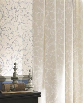 Papier peint Casadeco Toile de Jouy Fontainebleau Arabesque Beige FONT81531203