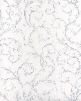 Papier peint Casadeco Toile de Jouy Fontainebleau Arabesque Bleu poudre FONT81536101
