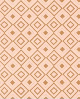 Papier peint géométrique Esta Home FAB Carré ethnique Pêche doré 128828