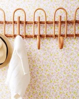 Papier peint Caselio Pretty Lili Petites Fleurs Orange mauve 69173052