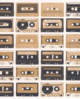 Papier peint Caselio Tonic Cassettes Sepia 69513313