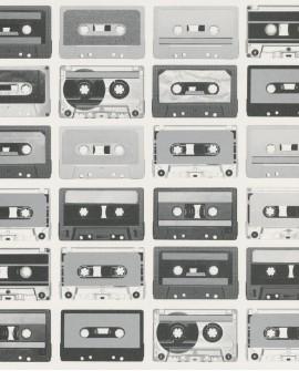 Papier peint Caselio Tonic Cassettes Gris 69519229