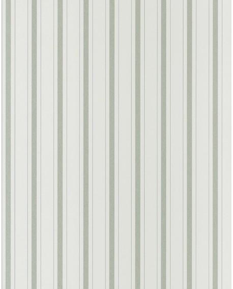 Papier peint Casadeco Toile de Jouy Fontainebleau Rayure Vert FONT81577104
