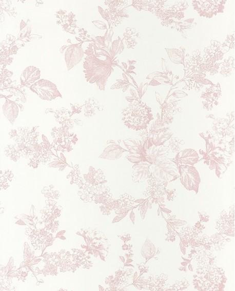 papier peint intiss toile de jouy fleur. Black Bedroom Furniture Sets. Home Design Ideas