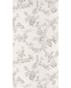 Papier peint Casadeco Toile de Jouy Fontainebleau Fleur gravure Beige FONT81561203