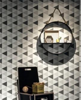 Papier peint Caselio Tonic Triangles Gris Noir 69449412