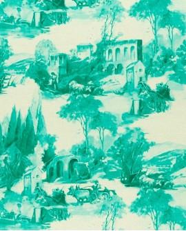 Tissu Clarke & Clarke Anastacia vert F0997/01