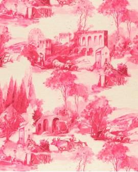 Tissu Clarke & Clarke Anastacia Raspberry F0997/04
