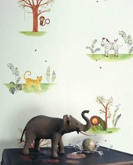 Papier peint Casadeco Alice & Paul Jungle vert  AEP28087319