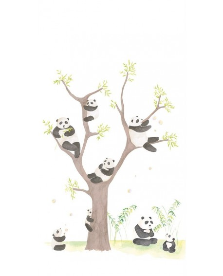 Panoramique Casadeco Alice & Paul Panda AEP28169401