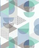 Papier peint Lutèce Les Aventures Gommettes Bleu 51171801