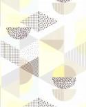 Papier peint Lutèce Les Aventures Gommettes Jaune 51171802