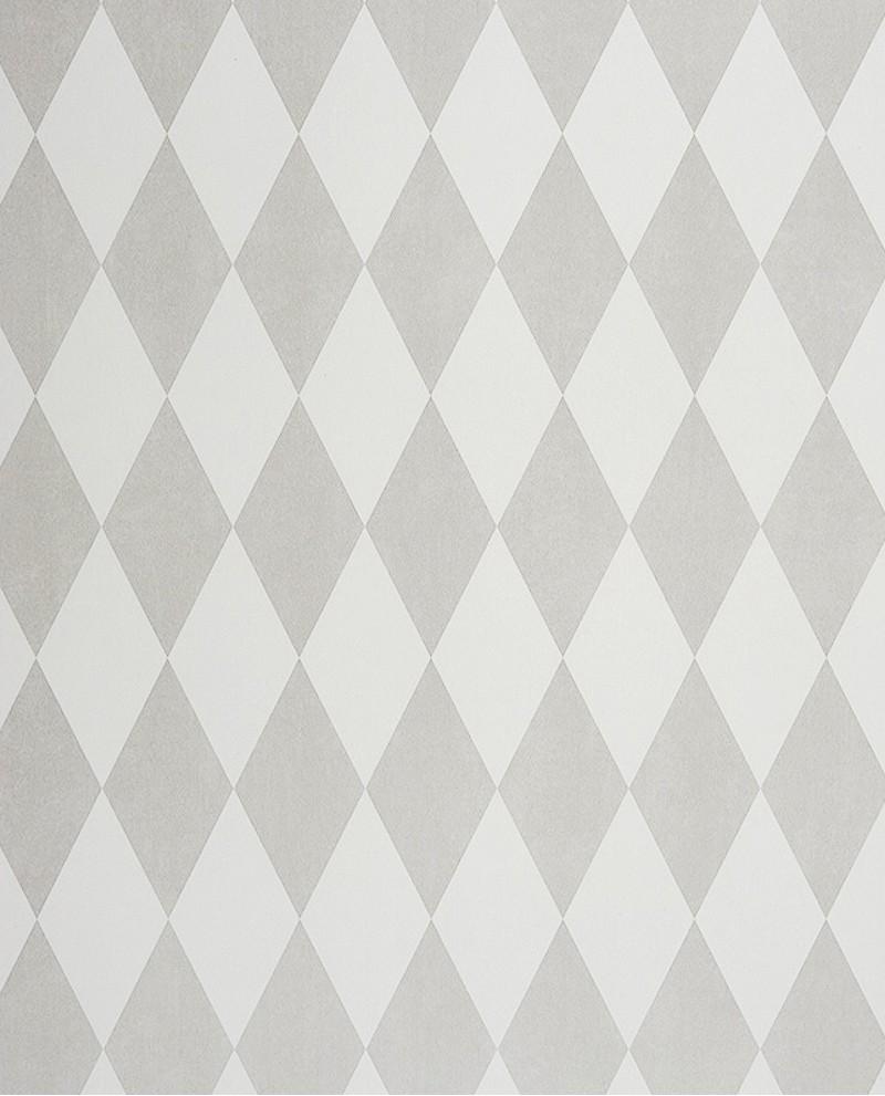 Papier peint casadeco alice paul losange gris iris - Papier peint losange ...
