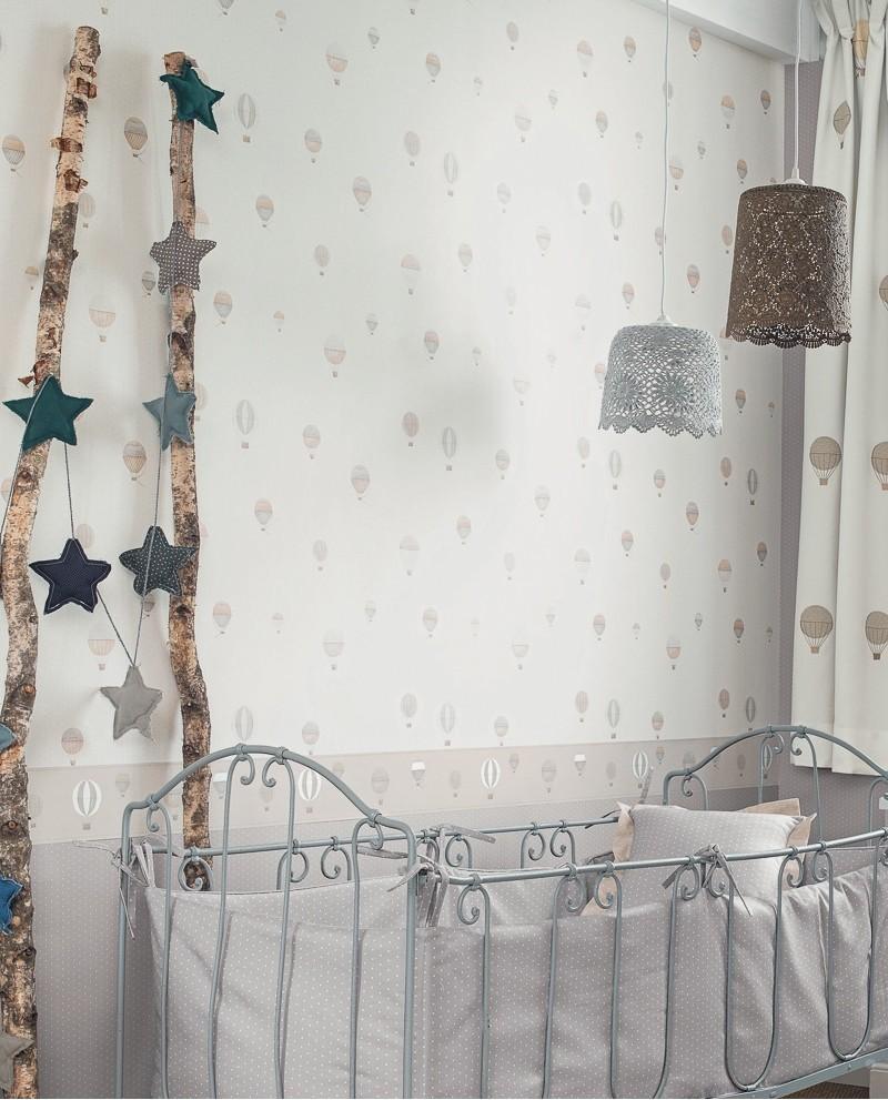 papier peint casadeco my little world montgolfi re beige mlw29771317. Black Bedroom Furniture Sets. Home Design Ideas