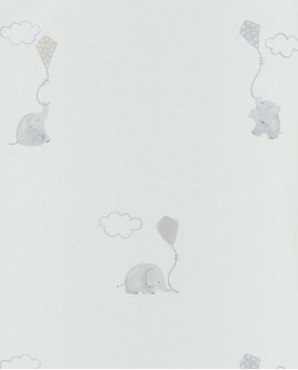 Papier peint Casadeco My Little World Elephants Beige MLW29731212