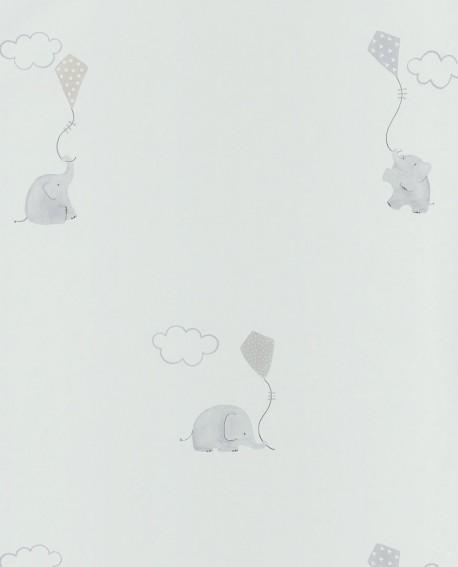 Papier peint Casadeco My Little World Elephants Beige MLW29731212