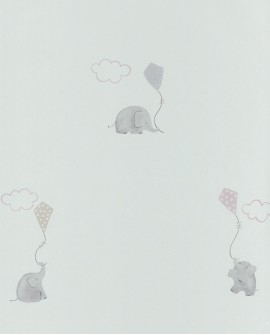 Papier peint Casadeco My Little World Elephants Rose MLW29734231