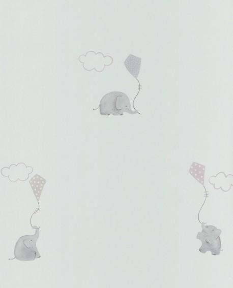 Papier peint Casadeco My Little World Elephants Rose MLW29734231