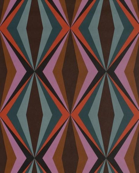Papier peint Lutèce Bensimon Losanges Violet et vert 51173013