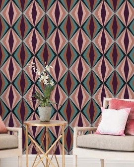 papiers peints g om triques fenducci. Black Bedroom Furniture Sets. Home Design Ideas
