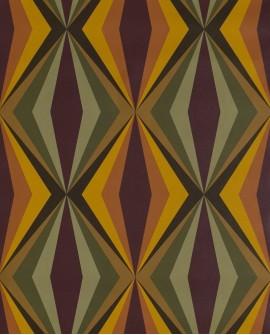 Papier peint Lutèce Bensimon Losanges Vert et jaune 51173004
