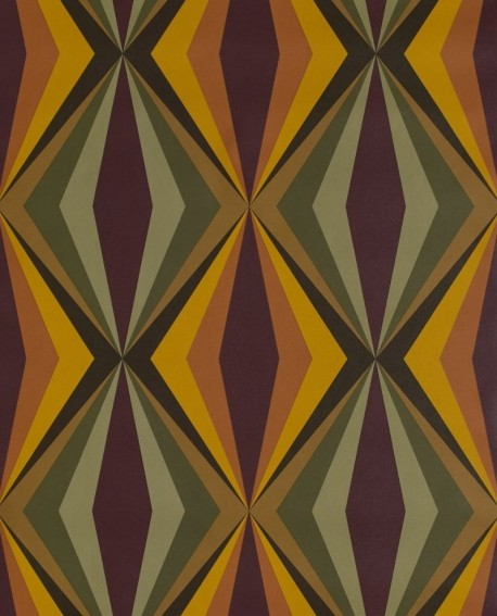 papier peint lut ce bensimon losanges vert et jaune 51173004. Black Bedroom Furniture Sets. Home Design Ideas