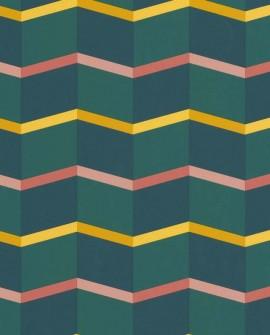 Papier peint Lutèce Bensimon Angles graphiques Vert 51172704