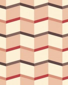 Papier peint Lutèce Bensimon Angles graphiques Rose 51172703