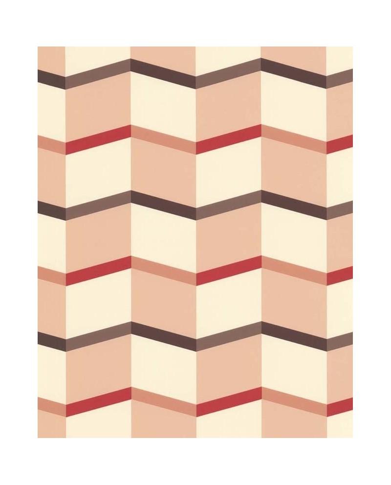 papier peint lut ce bensimon angles graphiques rose 51172703. Black Bedroom Furniture Sets. Home Design Ideas