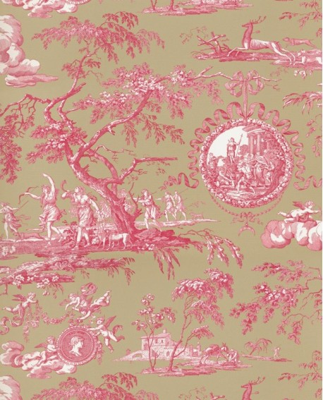 papier peint toile de jouy charles burger chasse de diane. Black Bedroom Furniture Sets. Home Design Ideas