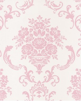 Papier peint Caselio Ashley Arabesques Rose 69344003