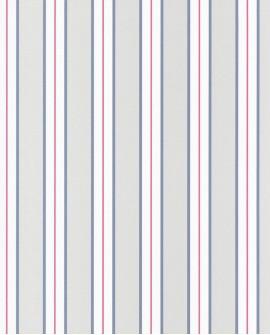 Papier peint Caselio Ashley Rayures bleu et rouge 69356041