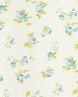 Papier peint Caselio Ashley Grandes Fleurs fond Blanc 69366077