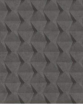 Papier peint Caselio Tonic Carrés Géométriques Anthracite 69509903