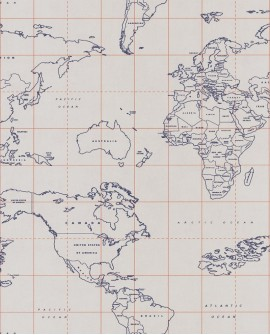 Papier peint Caselio Tonic Map World Marine 69473328
