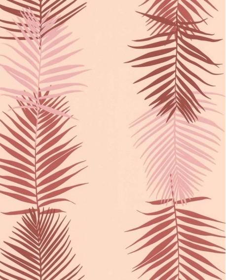 Papier peint Lutèce Bensimon Feuilles Palme Rose 51173103