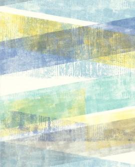 Papier peint Lutece Rétro Vintage Géométrique Pastel Bleu et vert 51174701