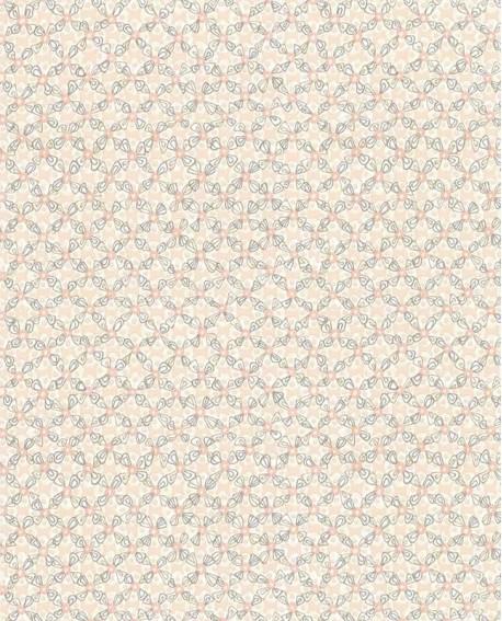 Papier Peint Lutece Rétro Vintage Rondamier Rose Et Taupe 51175103